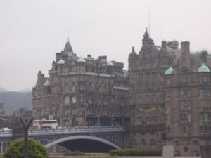 Edinburgh on a foggy day