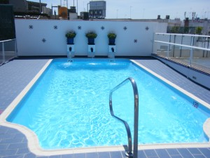 Rooftop pool in Seville